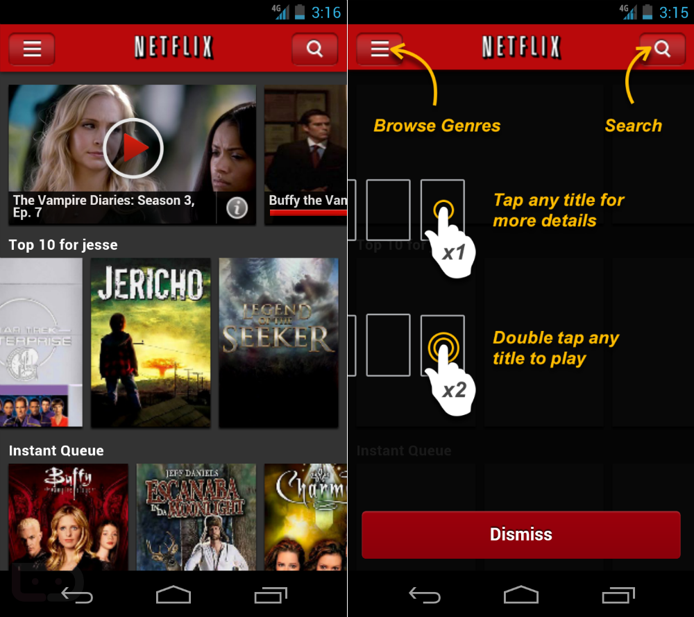 Smarter way to watch TV- NETFLIX for Android sidesteps log