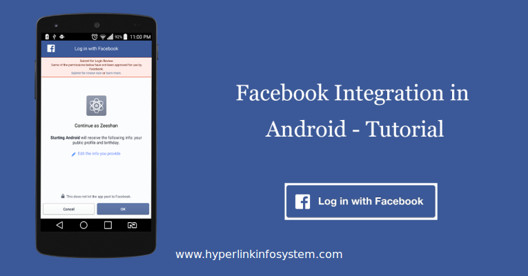 Face Book Application For Mobile
