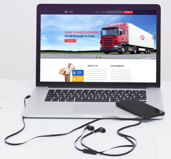 on-demand logistic website