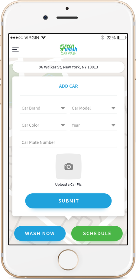 on-demand car wash app development