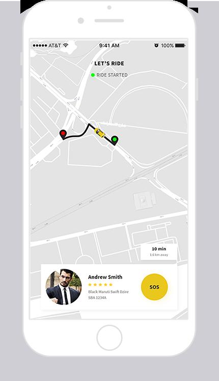 on-demand taxi app