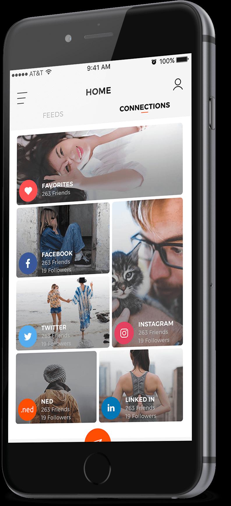 cross platform social media app