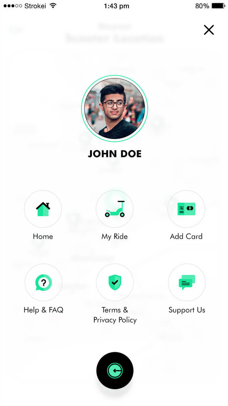 automated scooter rental app
