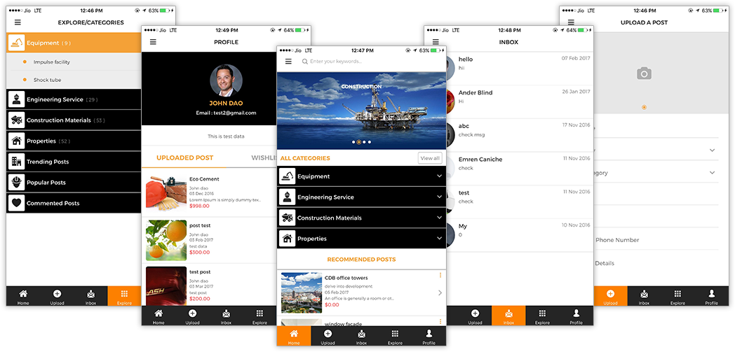 vonbin - online material finding app