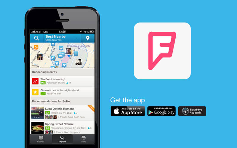 app development like foursquare