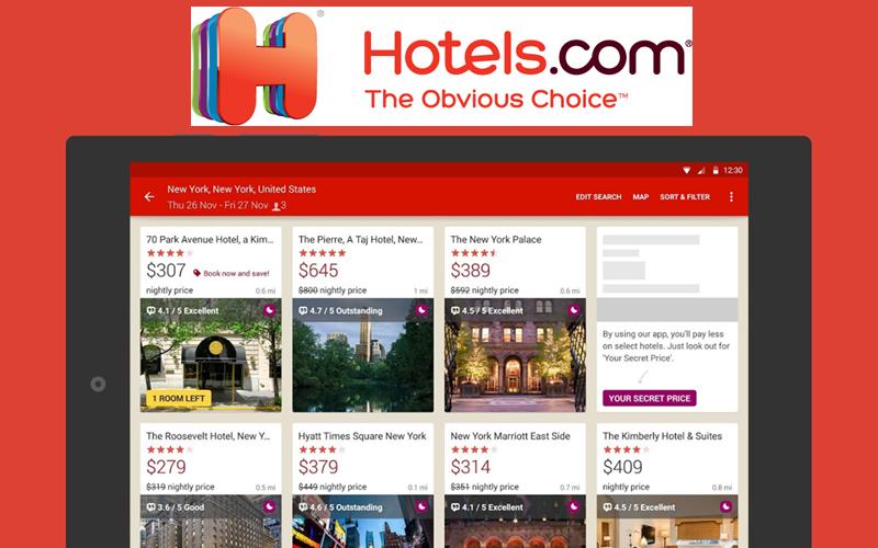 app like hotels.com cost