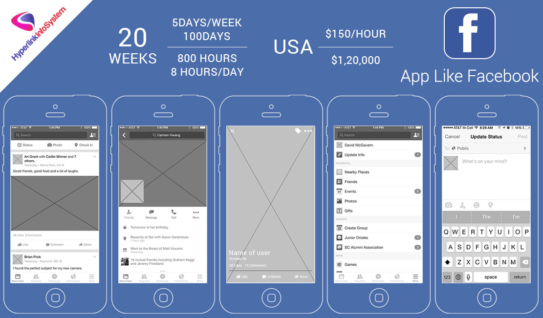 How much does app like Facebook cost