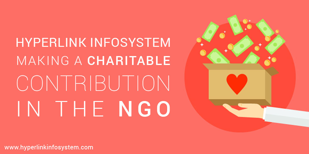 Hyperlink Infosystem Making a charitable contribution in the NGO
