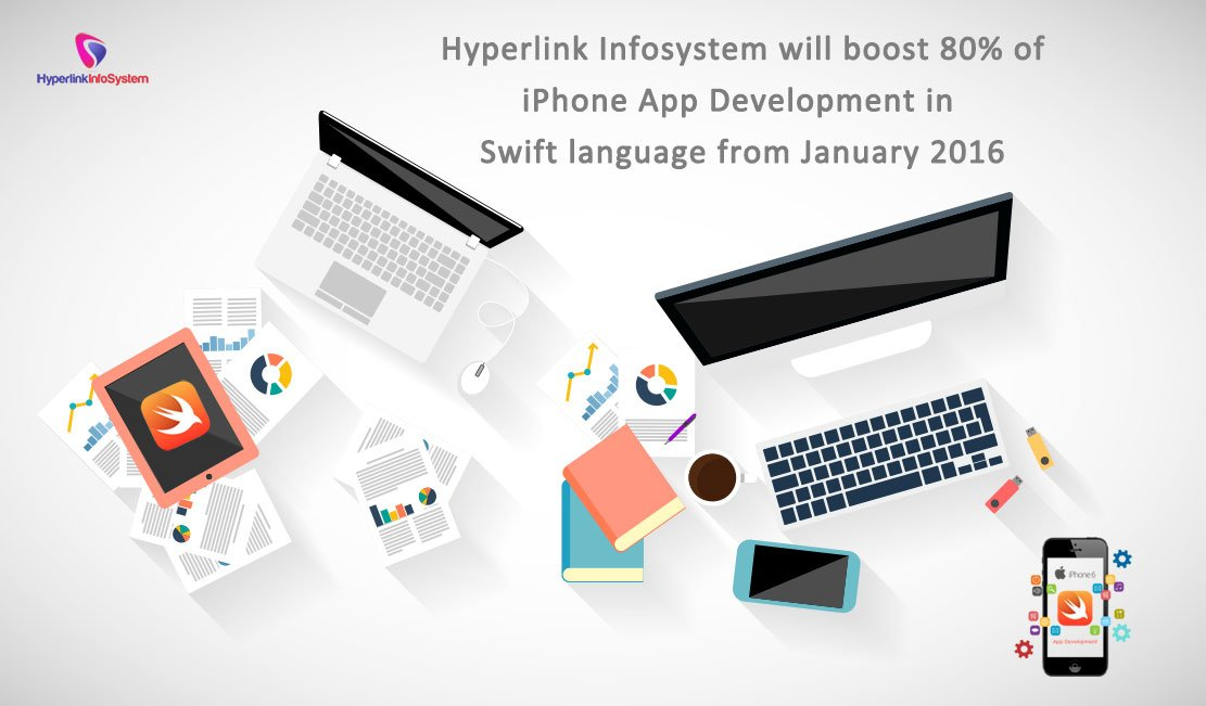 Hyperlink Infosystem will boost 80% of Iphone App Development in Swift language from January 2016