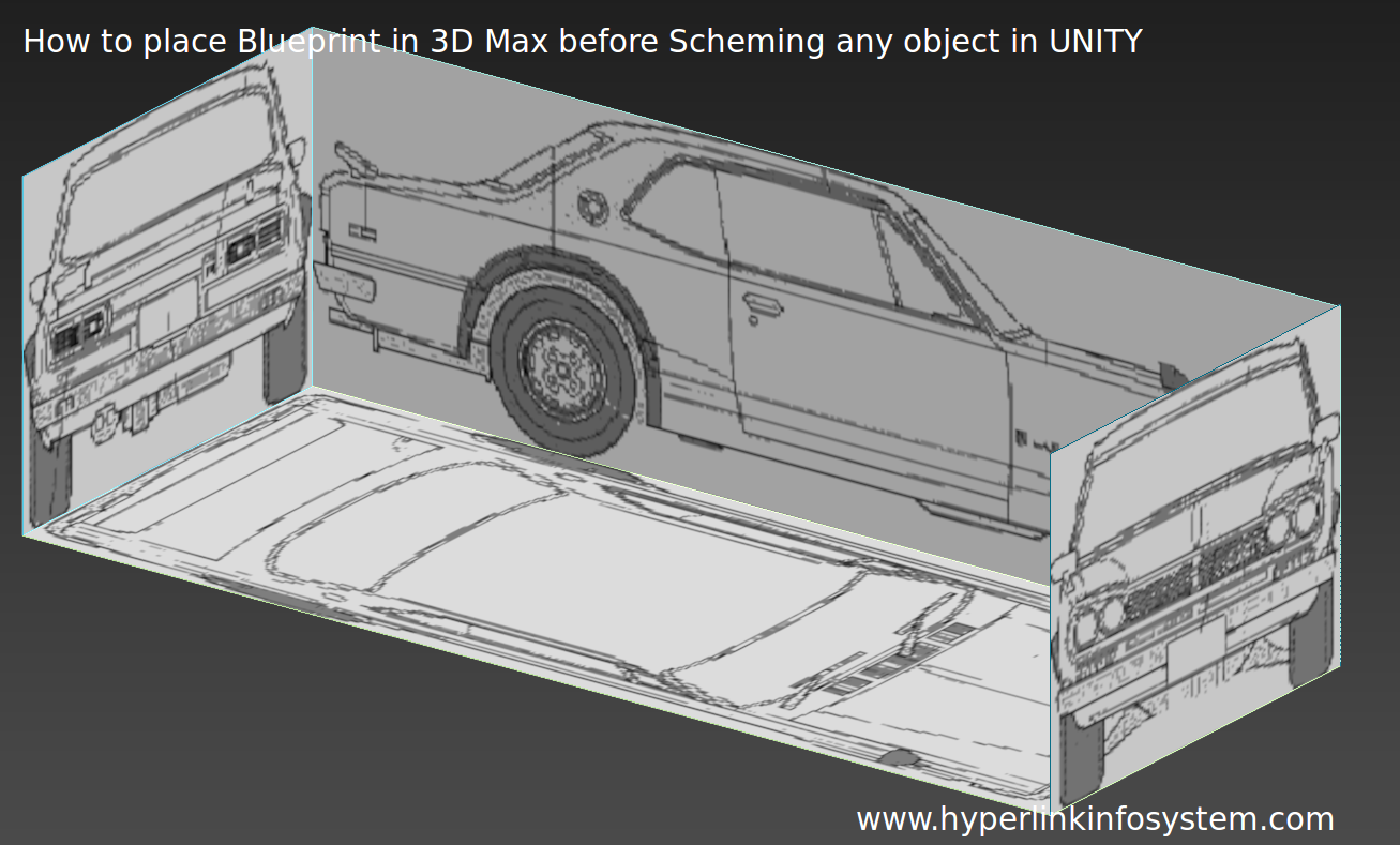 Want to model an object in UNITY : Learn how to place Blueprint in 3Ds MAX before scheming Any object in UNITY