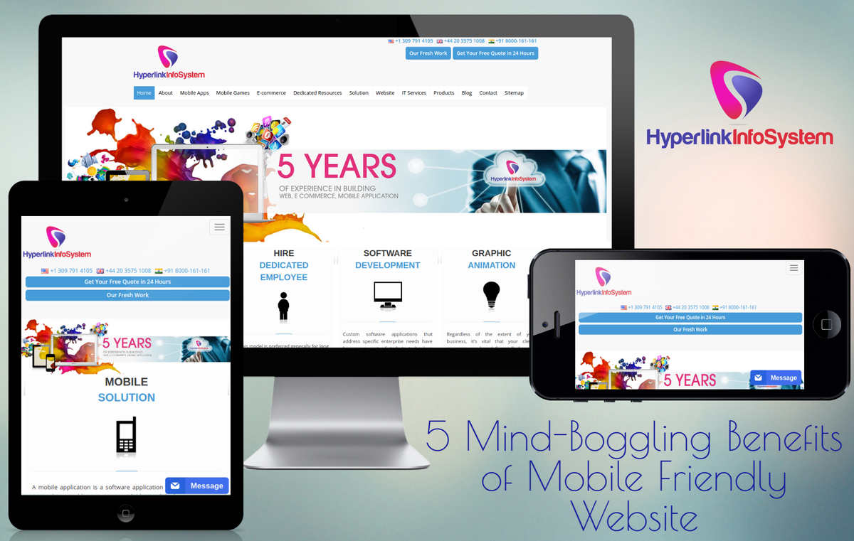5 Mind-Boggling Benefits of Mobile Friendly Website