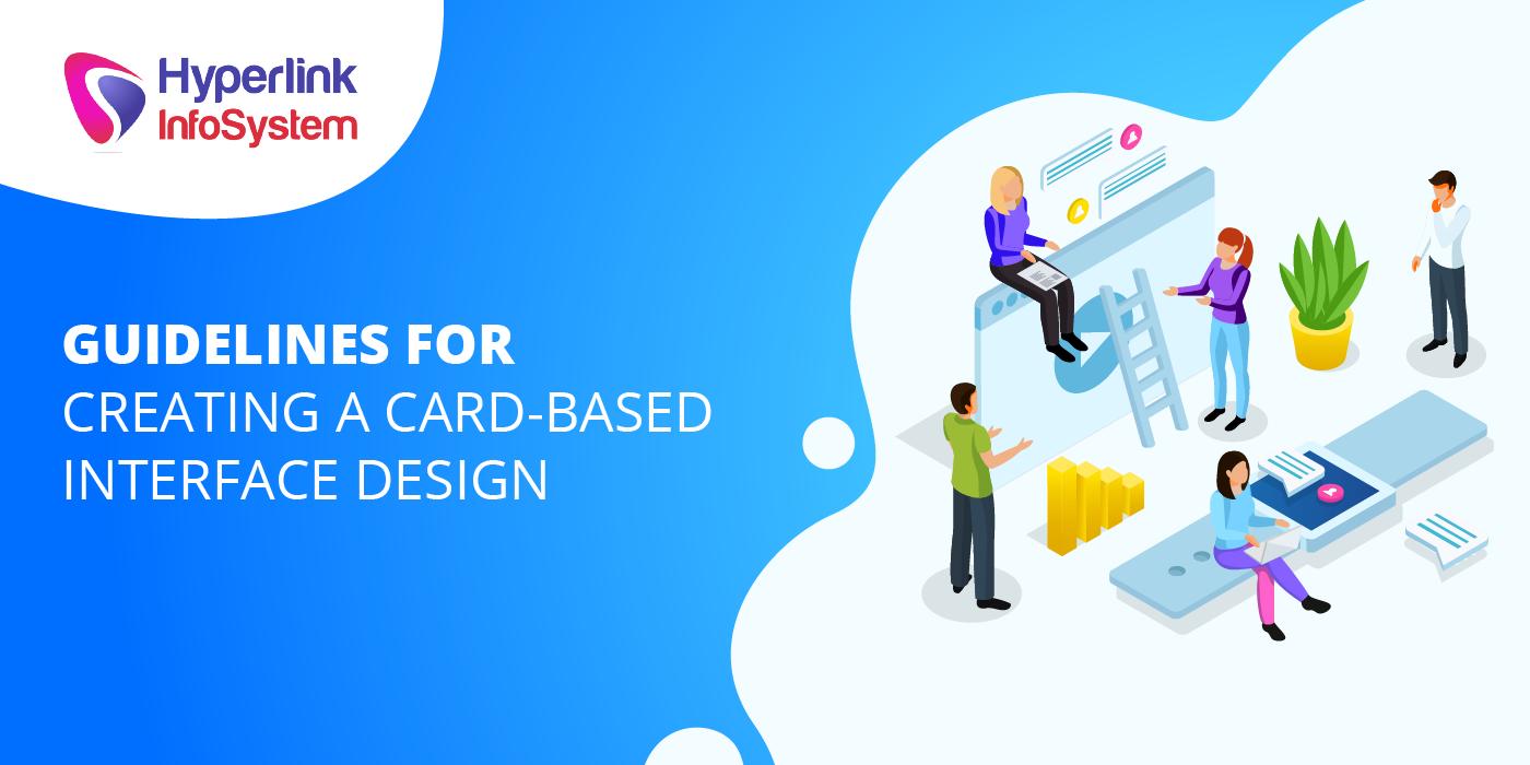 card based interface design