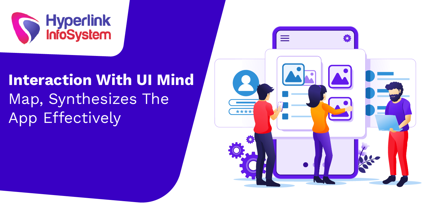 interaction with ui mind map, synthesizes the app effectively