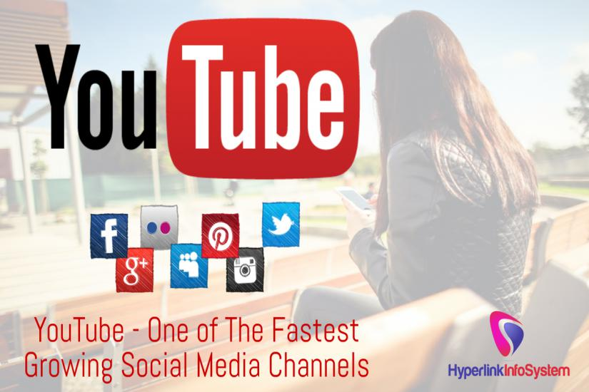 YouTube One of The Fastest Growing Social Media Channels Survey by Hyperlink Infosystem