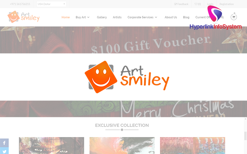 art smiley website development